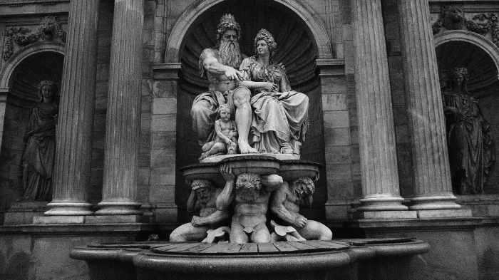 Front statue in Albertina Square, Vienna.